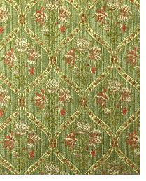 Green Floral Diamond Fabric  Bargrove Harvest