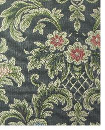 Multi Floral Diamond Fabric  Birkdale Black