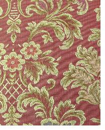 Red Floral Diamond Fabric  Birkdale Ruby