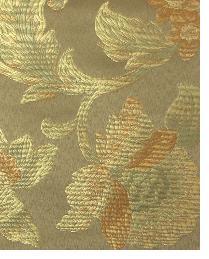 Medium Print Floral Fabric  Blanford Taupe