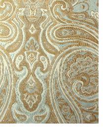 Blue Classic Paisley Fabric  Borden Aqua