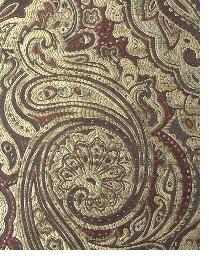 Red Classic Paisley Fabric  Borden Merlot