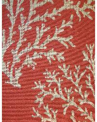 Red Marine Life Fabric  Coral Bay Red