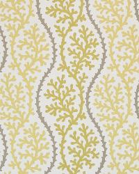 Green Marine Life Fabric  Coral Beach Citron