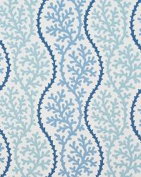 Blue Marine Life Fabric  Coral Beach Pacific