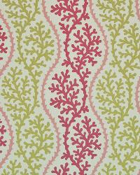 Beige Marine Life Fabric  Coral Beach Pink Sand