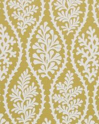 Gold Marine Life Fabric  Coral Splendor Goldenrod