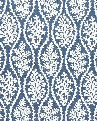 Blue Marine Life Fabric  Coral Splendor Navy