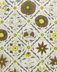 Brown Modern Floral Designs Fabric  Jinga Floral Woodland