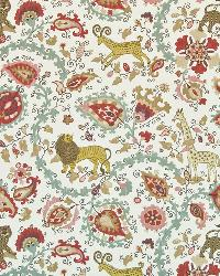 Red Jungle Safari Fabric  Jinga Jungle Curry