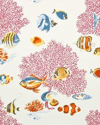 Multi Marine Life Fabric  Kipu Kai Nautical