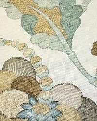Blue Large Print Floral Fabric  La Reserve Mineral