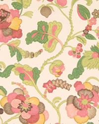 Pink Large Print Floral Fabric  La Reserve Sorbet