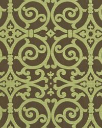 Modern Scroll Chartreuse by