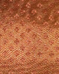 Orange Small Print Floral Fabric  Moorgate Copper