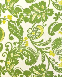 Green Modern Floral Designs Fabric  Padonia Citrine