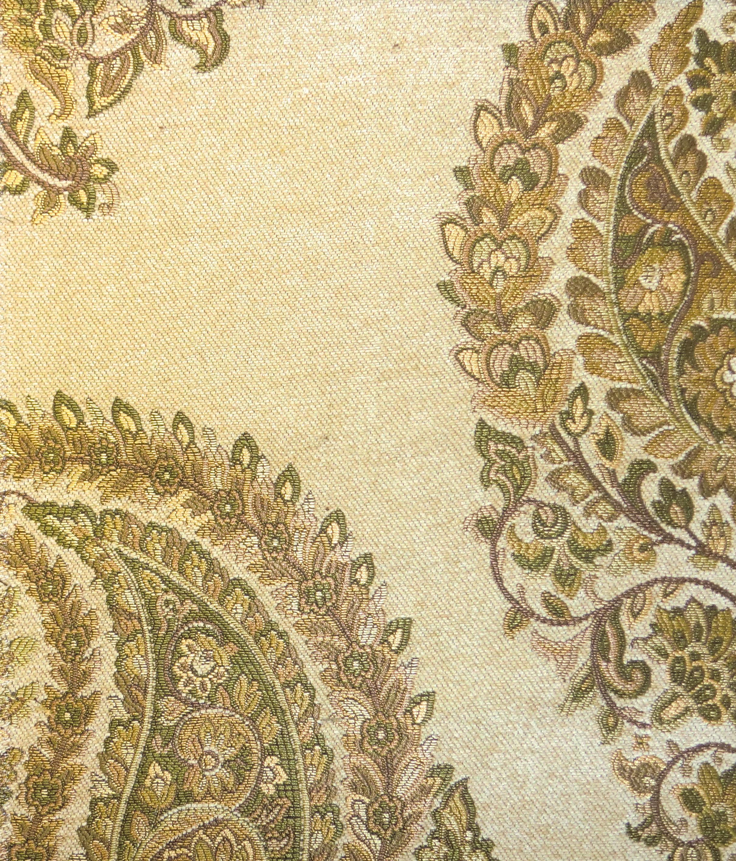 Kasmir Fabrics Pashmina Paisley Cream - InteriorDecorating.com