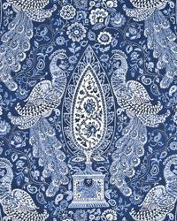 Blue Birds Fabric  Peacock Fantasy Blue Jay