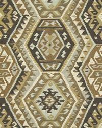Brown Navajo Print Fabric  Pima Basketry Desert