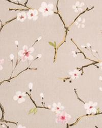 Beige Small Print Floral Fabric  Plum Blossom Mulberry