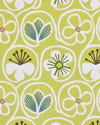 Green Modern Floral Designs Fabric  Poipu Beach Citron