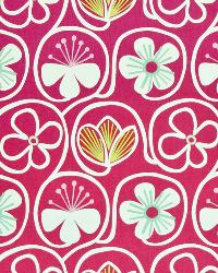 Pink Modern Floral Designs Fabric  Poipu Beach Raspberry