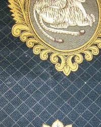Black Oriental Fabric  Sheherazade Caviar