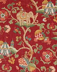 Red Jungle Safari Fabric  Sutera Ruby