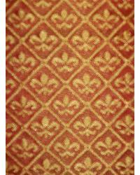 Orange Fleur de Lis Fabric  Avondale Russet