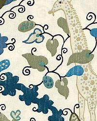 Blue Jungle Safari Fabric  Casablanca Blues