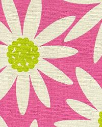 Pink Modern Floral Designs Fabric  Daisy Pink