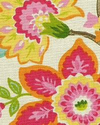 Pink Large Print Floral Fabric  Flowers Multi