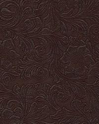 Brown Medium Print Floral Fabric  Lukenbach Fudge