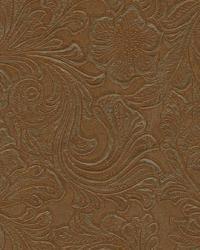 Brown Medium Print Floral Fabric  Lukenbach Rawhide