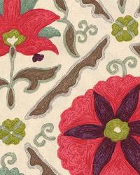 Pink Floral Diamond Fabric  Marrakech Berry