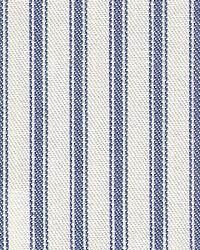 Blue Ticking Stripe Fabric Tag Denim