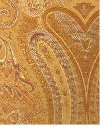 Orange Classic Paisley Fabric  Thurston Brick