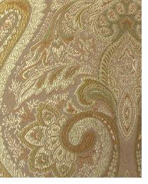 Beige Classic Paisley Fabric  Thurston Bronze
