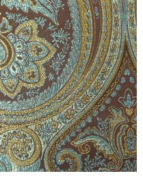 Blue Classic Paisley Fabric  Thurston Camel