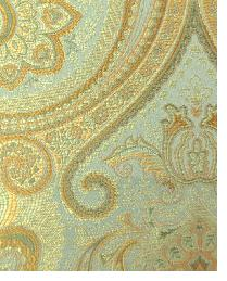 Green Classic Paisley Fabric  Thurston Celadon