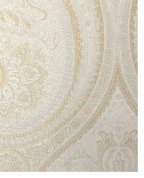 White Classic Paisley Fabric  Thurston Champagne