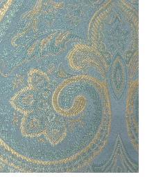 Blue Classic Paisley Fabric  Thurston Ocean