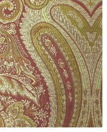 Red Classic Paisley Fabric  Thurston Rust