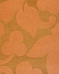 Orange Medium Print Floral Fabric  French Dip Cinnamon