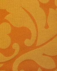Orange Medium Print Floral Fabric  French Dip Nectarine