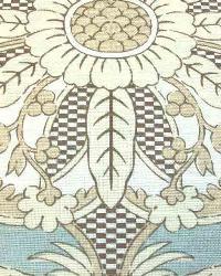 Blue Medium Print Floral Fabric  Ranada Aqua