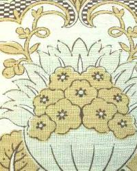 Yellow Medium Print Floral Fabric  Ranada Elm