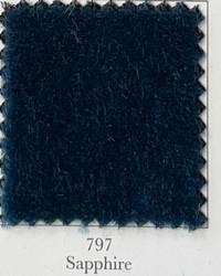 Blue Wool Mohair Fabric  Nevada Sapphire