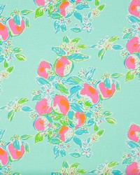 Blue Fruit Fabric  Pink Lemonade Pool Blue