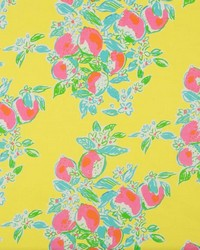 Yellow Fruit Fabric  Pink Lemonade Sunshine